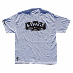 SAVAGE WHITE AND BLACK TEE