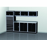10 Foot Wide Modular Aluminum Cabinets with Open End