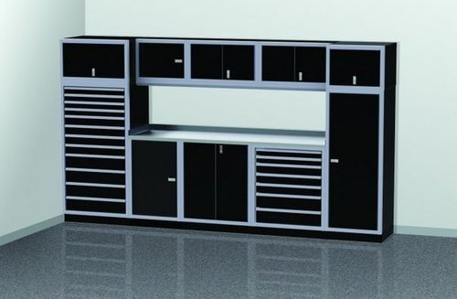12 Foot Wide Modular Aluminum Cabinets With Tool Storage