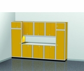 12 Foot Wide Modular Aluminum Cabinets wth Large Lockers