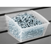 12 Pack of Clear Slatwall Bins