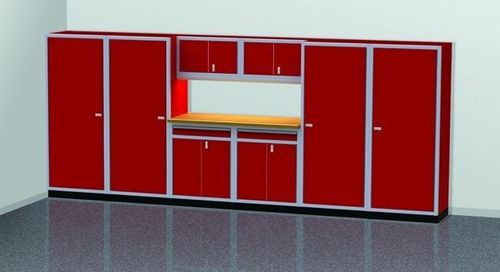 16 Foot Wide Modular Aluminum Cabinets wth Large Lockers