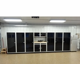 19 foot set of Aluminum Garage Cabinets