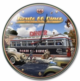 1936 ROUTE 66 DINER CLOCK Metal Sign