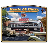 1936 Route 66 Diner Metal Sign