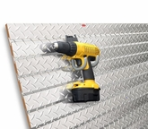 2' x 4' Diamond Plate Slatwall with Diamond Plate Grooves
