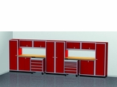 20 Foot Wide Modular Aluminum Cabinets Duel Bay