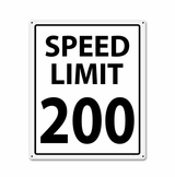 200 Mph Metal Sign