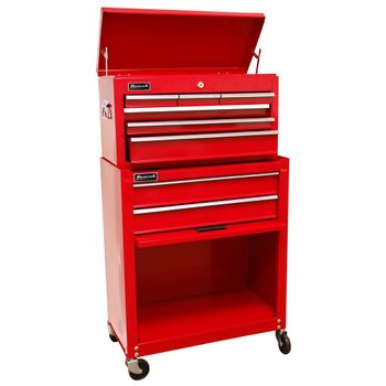 "24"" Homeowners 8 Drawer Combo Tool Box - Red"