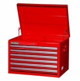 "27"" 6 Drawer Starter Top Chest - Red"