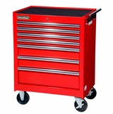 "27"" 7 Drawer Starter Cabinet - Red"