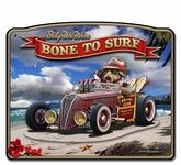 3-D Bone to Surf Metal Sign