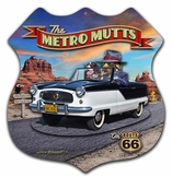 3-D Metro Mutts Metal Sign