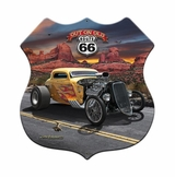 3-D Out On Old Route 66 Metal Sign