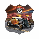 3-D OUT ON ROUTE 66 Metal Sign