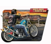3-D Outlaws Of Route 66 Metal Sign