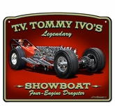 3-D Tommy Ivo Dragster Metal Sign