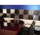 3'x8' Set of Anodized Blue, Black and Polished Diamond Plate Tiles