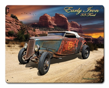 33 Ford Early Iron Metal Sign