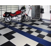 336 sq. ft. of Diamond Plate Aluminum Tiles in Black, Blue, and Ice