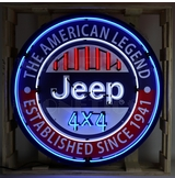 36 inch Jeep Round Neon Sign