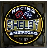 36 inch Shelby Racing Round Neon Sign