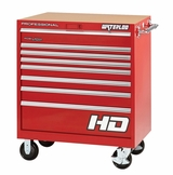 "36"" Professional HD Series 8-Drawer Cabinet in Red Finish"