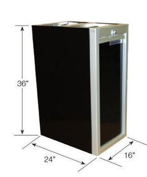 "36"" Tall 24: Deep 16"" Wide Waste Cabinet"