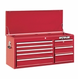 "41"" Red 8 Drawer Tool Chest with Liners"