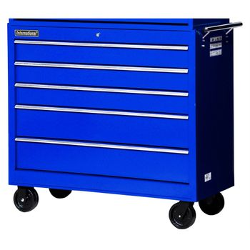 "42"" 5 Drawer Workshop Tool Cabinet - Blue"