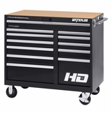 "46"" Professional HD Series 12-Drawer Cabinet in Black Finish"