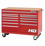 "46"" Professional HD Series 12-Drawer Cabinet in Red Finish"