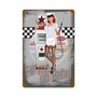 50'S Pump Girl Metal Sign
