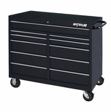 "52"" Black 11 Drawer Tool Cabinet with Liners and Upgraded Casters"