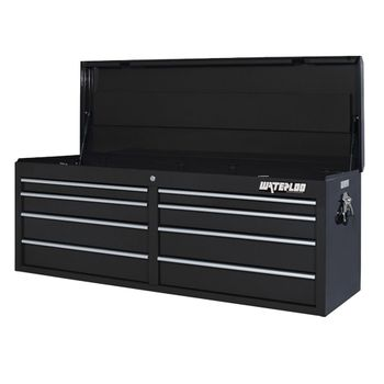 "52"" Black 8 Drawer Tool Chest with Liners"
