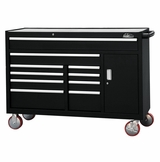 "56"" 10 Drawer Bottom Cabinet - Black"