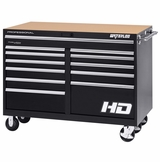 "56"" Professional HD Series 12-Drawer Cabinet in Black Finish"