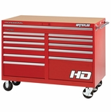 "56"" Professional HD Series 12-drawer cabinet in red finish"