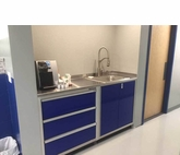 6 foot wide Aluminum Base Cabinets with Sink