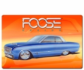 63 Two Tone Blue Car Metal Sign
