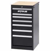 7-Drawer Side Cabinet - Black
