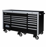 "72"" 20 Drawers Tool Cabinet - Black"