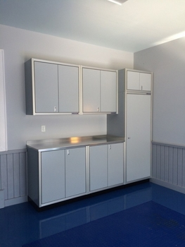 8 feet 6 inches of Aluminum Garage Cabinets