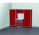 8' Wide Modular Aluminum Cabinets With Lockers