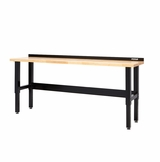 8' Workbench with Butcher Block Surface