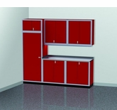 9 Foot Wide Modular Aluminum Cabinets with Large Uppers