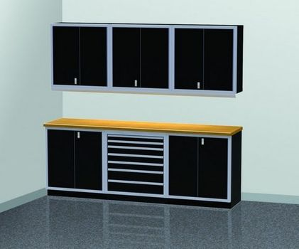 9' Wide Modular Aluminum Cabinets With Tool Box