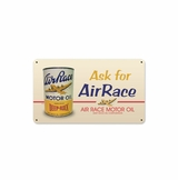 Air Race Oil Metal Sign