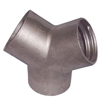 "Aluminum Y Connector for 4"" Exhaust Hose"
