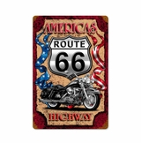 America Highway Metal Sign